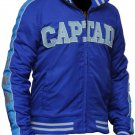 Suicide Squad Captain Boomerang Letterman Cotton blue jacket