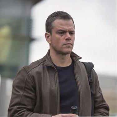 Matt Damon Jason Bourne Distress Brown Cowhide Leather Jacket