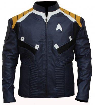 Star Trek Beyond Chris Pine James Kirk Faux Leather Jacket