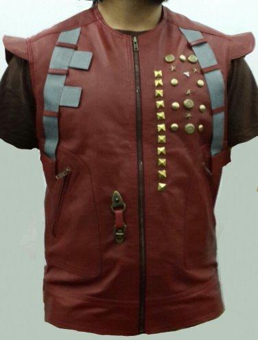 Star Lord Chris Pratt Guardians Of The Galaxy Stylish Leather Vest Jacket
