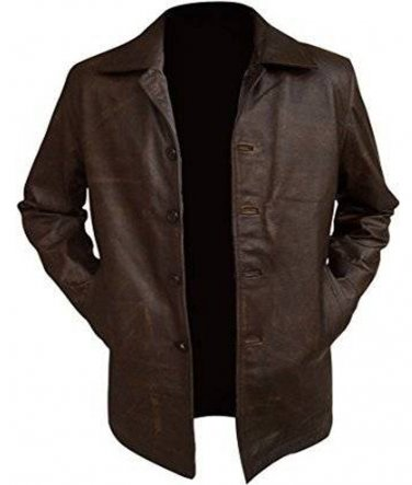 Supernatural TV Series Dean Winchester Brown Distressed Long Leather Coat