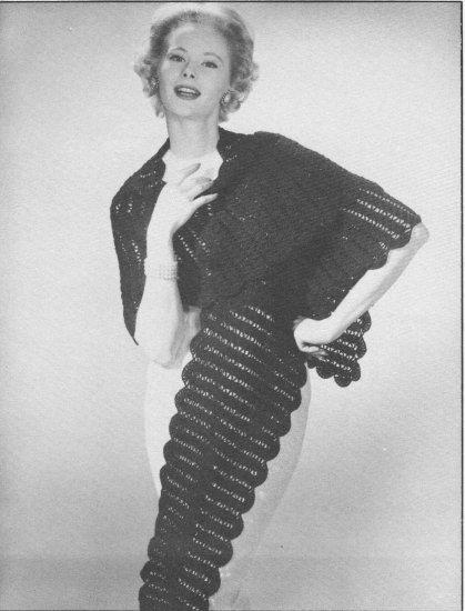 Vintage Crochet Shawl Pattern