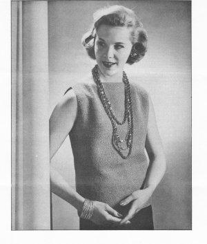 Vintage Crochet Blouse Pattern