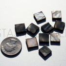 Silver Gray Mother of Pearl Flat Shell MOP Square Beads (10)