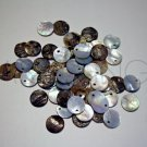Mother of Pearl Shell MOP Coin Disk Sequin Tag Charms (50)