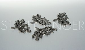High Quality Gunmetal Plated Tree Pendants (4)