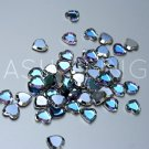 Vintage Swarovski Vitrail Light Crystal Heart Flatback Rhinestones (10)