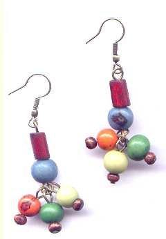 Organic Colorful Acai earrings