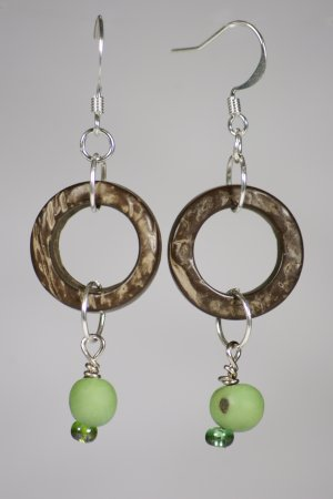 Organic Coconut earrings