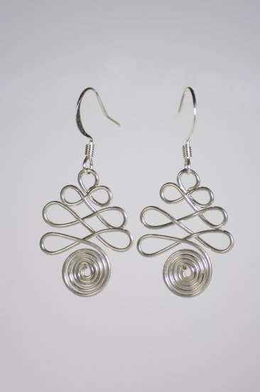 Silver wire earrings