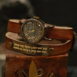 CUSTOM made bracelat  watch VINTAGE T-LADY-NAME made to order for gift