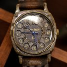 Made to Order handmade antique brass wrist watch FLYBACK CUSHION
