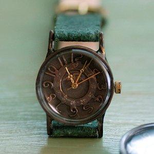 vintage punks jewelry style handmade antique brass wrist watch  W-FLAP