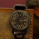 "wrist  Watch ANTIQUE steampunk timepiece   "" LARGO """