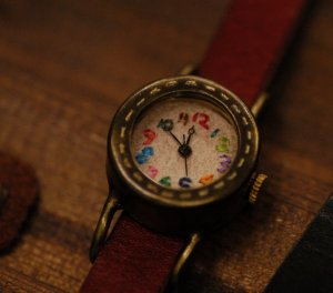 "birthday gift ""omoroi stch 2""  handcrafted watch"