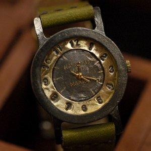 """SteamPunk   vintage handmade wrist watch  """" GOTHAM 1 """""""