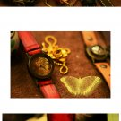 Vintage punks jewelry style  handmade watch BUTTER FLY