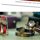Korea fashion handmade art SteamPunk Watch TWINLADY nameplate wrist jewelry