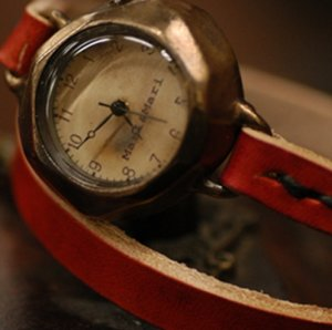"""ANTIQUE type handmade watches  """"  DIVO LEATHER  """""""