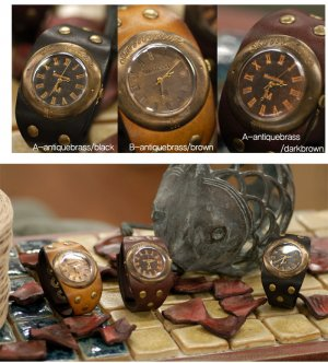 Roman vintage fashion SteamPunk Antique korea handmade wrist cuff watch U-ARC