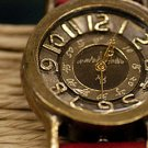 "vintage style handmade watch ""BRASS RETORO"" retro type"