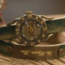 "UNIQUE GIFT HANDCRAFT WATCH ""VINTAGE DEMETER DOUBLE"""