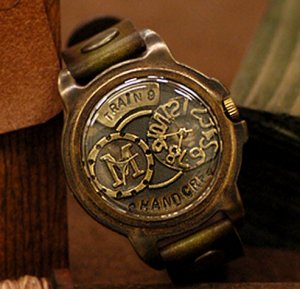 STEAMPUNK handmade wrist watches  9 3/4 FLATFORM korea pop star favorite