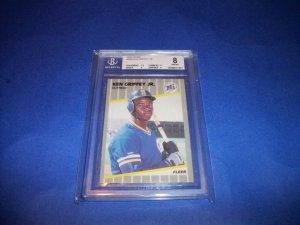 Ken Griffey Jr. 1989 Fleer #548 BGS 8