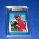 Barry Larkin 1987 Fleer #204 BGS 9