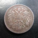 1918 Austria 20 Heller Iron World War 1 Era Coin High Grade! - Karl I Emperor