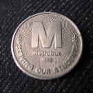 1993 Washington, DC Metrobus Student Token