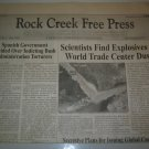 Original Historic 9-11 Truth Newspaper! Explosives Found In 9-11 WTC Dust!