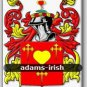 ADAMS - Irish - Coat of Arms - Family Crest GIFT! 4x6