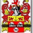 ALLEN - Irish - Coat of Arms - Family Crest GIFT! 4x6