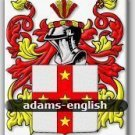 "ADAMS - English - Coat of Arms - Family Crest GIFT! 8.5"" x 11"""
