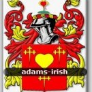ADAMS - Irish - Coat of Arms - Family Crest - Armorial - GIFT! 8.5x11