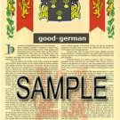 GOOD - GERMAN - Coat of Arms - Family Crest - Armorial GIFT! 8.5x11