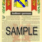 KELLNER - GERMAN - Armorial Name History - Coat of Arms - Family Crest GIFT! 8.5x11