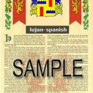 LUJAN - SPANISH - Armorial Name History - Coat of Arms - Family Crest GIFT! 8.5x11
