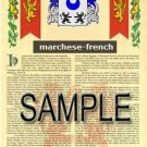 MARCHESE - FRENCH - Armorial Name History - Coat of Arms - Family Crest GIFT! 8.5x11