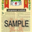 MCGOWAN - SCOTTISH - Armorial Name History - Coat of Arms - Family Crest GIFT! 8.5x11