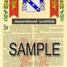 MOOREHEAD - SCOTTISH - Armorial Name History - Coat of Arms - Family Crest GIFT! 8.5x11