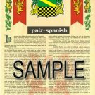 PAIZ - SPANISH - Armorial Name History - Coat of Arms - Family Crest GIFT! 8.5x11