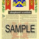 SHEPHARD - SCOTTISH - Armorial Name History - Coat of Arms - Family Crest GIFT! 8.5x11
