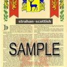 STRAHAN - SCOTTISH - Armorial Name History - Coat of Arms - Family Crest GIFT! 8.5x11