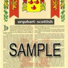 URQUHART - SCOTTISH - Armorial Name History - Coat of Arms - Family Crest GIFT! 8.5x11