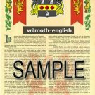 WILMOTH - ENGLISH - Armorial Name History - Coat of Arms - Family Crest GIFT! 8.5x11