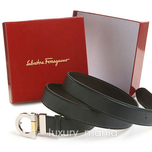 Salvatore Ferragamo Combi Gancini Logo Leather Belt