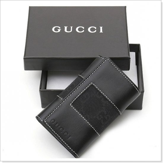 GUCCI GG Logo Canvas/Leather Key Wallet, Keyholder