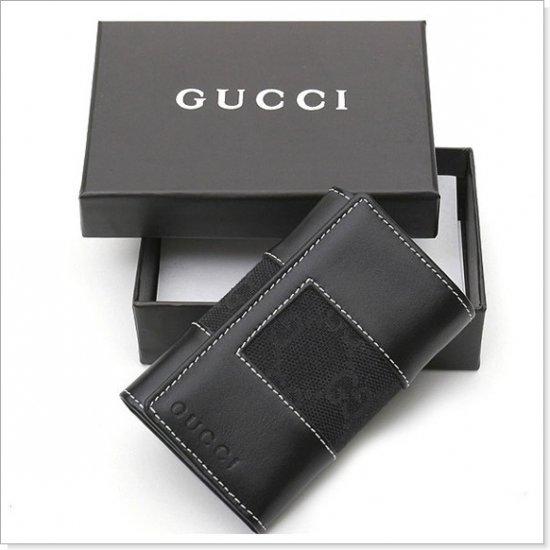 GUCCI GG Logo Canvas/Leather Key Wallet, Keyholder